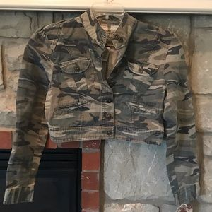 Jackets & Blazers - Star Jeans NWT camouflage camo cropped jacket